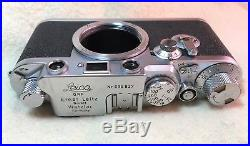 Leica Leitz red dial IIIf 1954 camera + view finder, accessories, leather cases