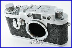 Leica Lietz IIIg Rangefinder Camera Chrome Screw Mount withLeather case from Japan
