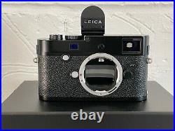 Leica M-P typ 240 camera Body Half Leather Case EVF2 & Spare Battery. Boxed