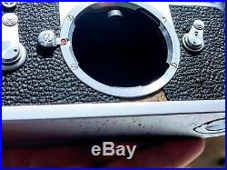Leica M2 35mm Film Rangefinder Camera Chrome Body Only Self-Timer Leather Case