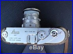 Leica M2 35mm Rangefinder Film Camera Complete with lense and Leather Case