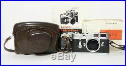Leica M3 35mm Single Stroke Camera in Leather Leica Case 1959 Vintage