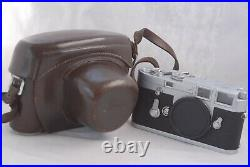 Leica M3 Camera Body #1070017 with MR Meter and Leather Case
