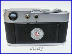 Leica M3 SS 35mm Rangefinder Camera s/n 1024554 Body & Leather Case Film tested