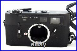 Leica M5 Black Body with Original Leather Case and Strap 35mm film camera