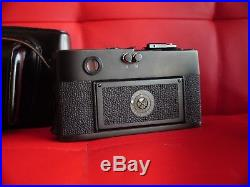 Leica M5, Black body + Leather Case! RECENTLY CLEANED, 35mm Rangefinder camera