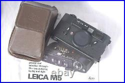 Leica M5 Camera Body with Soft Leather Case in the Box