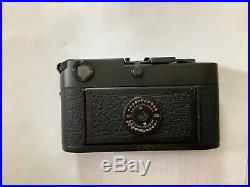 Leica M6 Black Non TTL Rangefinder Film Camera Body Plus Leather Case