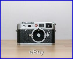 Leica M7.72 35mm Rangefinder Chrome Film Camera, Boxed with Leather Case MINT