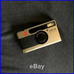 Leica Minilux Summarit 40mm F2.4 35mm Film Camera with Leather Case and Strap
