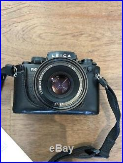 Leica R6.2 SLR Vintage Film Camera/ Including Leica R Lense And Leather Case