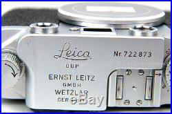 Leica Wetzlar IIIF later version with self timer L39 Camera Body withleather case
