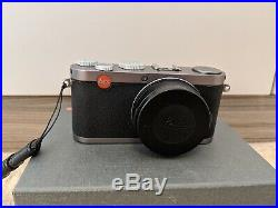 Leica X X1 12.2MP Digital Camera Steel Grey with original box and leather case