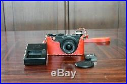 Leica X1 12.2MP Digital Camera Black Mint with Amazing JnK Red Leather Case