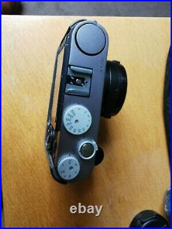 Leica X1 12.2MP Digital Camera aps-c leather case, grip and spare batteries