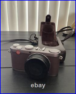 Leica X1 Digital Camera and Leather Case BMW Limited Edition Brown