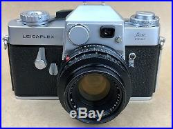 Leicaflex Camera with 50mm f/2 Summicron-R Lens, 12564K Hood, Leather Case & Filter