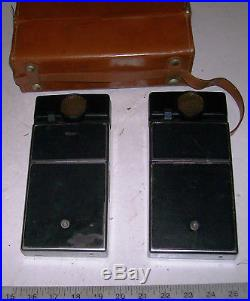 Lot of 2 Polaroid SX-70 Land Camera Sonar OneStep SX70 One Step with Leather Case