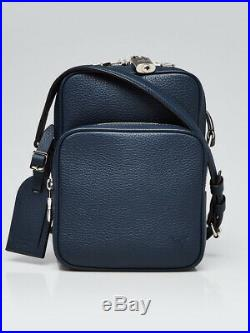 Louis Vuitton Blue Taurillon Leather Amazone Camera Case Bag