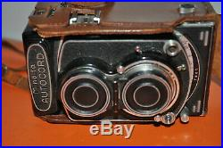 MINOLTA AUTOCORD TLR CAMERA with LEATHER CASE