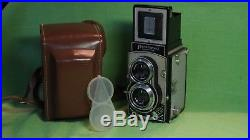 MINT FLEXARET VII B MEOPTA CZECHOSLOVAKIA TLR camera +LEATHER CASE+PLASTIC COVER