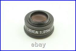 MINT in Box Leica 1.25x magnifier 12004 M Camera with Leather Case From Japan