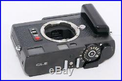 Minolta CLE 35mm Camera body with grip and LEATHER combination case. Vintage