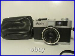 Minolta Hi-Matic G 35mm Point & Shoot Compact 35mm Film Camera With Leather Case