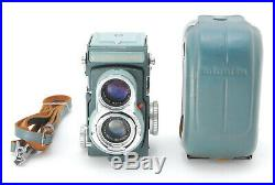 Minolta Miniflex TLR Camera with Rokkor 60mm f/3.5 & Leather Case Rare! EXC+3