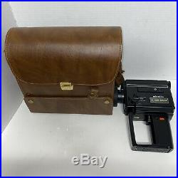 Minolta XL-225 Sound Super8 8mm Movie Camera With Leather Case And Microphone