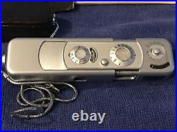 Minox B Subminiature Spy Camera With Chain Leather Case Complan 13.5/15 Germany