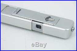Minox LX classic miniature camera Withcase. Metal strap. Leather case-Silver(HAZE)