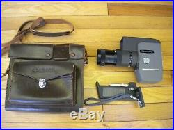 Mint Canon Zoom 8 Super 8 8mm Movie Camera Japan No. 123986 & Leather Case