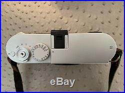 Mint Leica M240 M (Typ 240) Digital Rangefinder Camera Silver with leather case