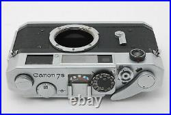 NEAR MINT CANON 7S 35MM RANGEFINDER FILM CAMERA BODY With LEATHER CASE BY FEDEX