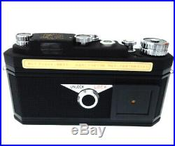 NEAR MINT in BOX Panon WIDELUX F8 35mm Panoramic Camera Leather Case JAPAN N7