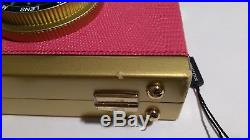 NEW $3200 DOLCE & GABBANA Bag Camera Case Pink Leather Shoulder Iconic Purse