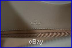 NWT Gucci $1400GG Marmont Zip-Top Camera Case Crossbody Shoulder Bag withBox, White