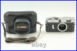 Near MINT Canon P Rangefinder 35mm Film Camera with leather case From JAPAN