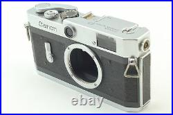 Near MINT READ Canon P with leather case Rangefinder 35mm Film Camera JAPAN