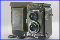 Near MINTYashica-A 6x6 TLR Camera with 80mm f3.5 Lens & Leather Case from JAPAN