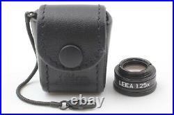 Near Mint Leica 1.25x magnifier 12004 M Camera with Leather Case from Japan