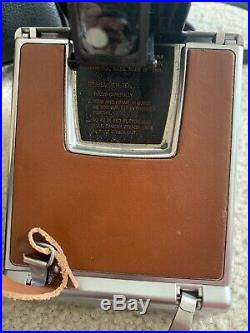 Near Mint in Case Polaroid SX-70 Alpha 1 Land Camera Brown Leather from japan