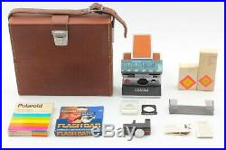 Near Mint in Case Polaroid SX-70 Land Camera Brown Leather from japan #730