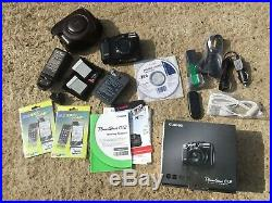 New Canon Powershot G12 Pro Digital Camera +Canon Leather Case, batts, Charger Etc