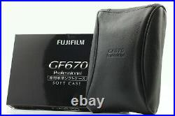 New IN BOX Fuji Fujifilm Soft Leather Case for GF670 Pro From JAPAN #1290