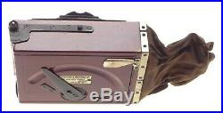Newman & Guardia Nydia Pocket Camera Wood Body Bellows No Lens Leather Case