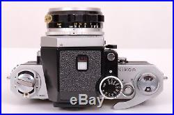 Nikon F Camera+Nikkor H Auto 50mm F-2 lens+leather case