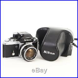 Nikon F2 Photomic 35mm Camera with NIKKOR-S f1.4 50mm Lens with Leather Case