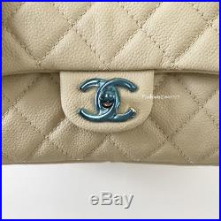 Nwt Chanel Beige Large Quilted Leather Silver Chain Camera Case Flap Bag Purse